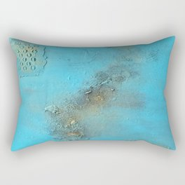 Earth. Texture. Blue. Jodilynpaintings. Brown. Abstract. Earths Crust. Rectangular Pillow