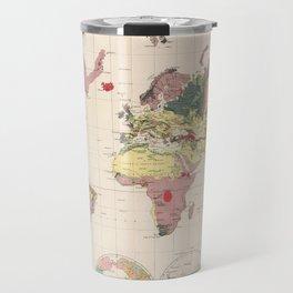 Vintage Geological Map of The World (1856) Travel Mug