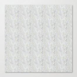 White Apophyllite Close-Up Crystal Canvas Print