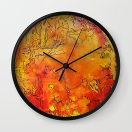 Yellow Dreams Wall Clock