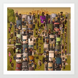 Super Walking Dead: Highway Art Print