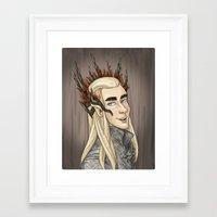 thranduil Framed Art Prints featuring Thranduil by quietsnooze