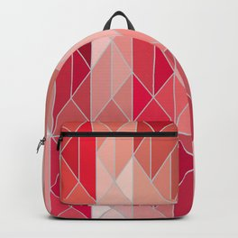 Pattern In Red Gradient Backpack