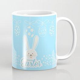 Cute Bunny Ears Happy Easter Egg Hunt Abstract Coffee Mug