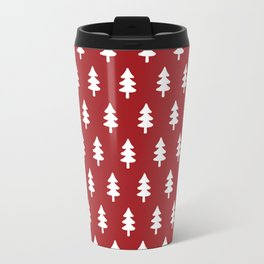 Hand drawn christmas red trees Travel Mug
