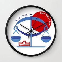 Libra - Scales Wall Clock