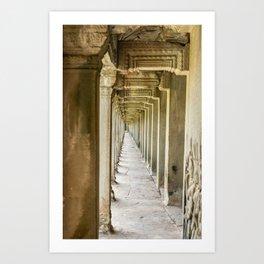 Angkor Wat Leading Lines, Cambodia Art Print