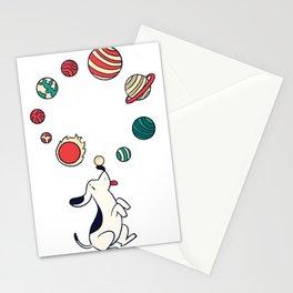 Hund mit Planeten Stationery Cards