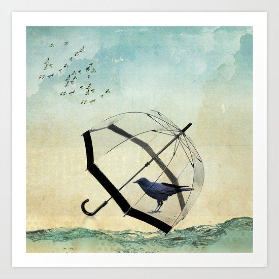 Black rain Art Print