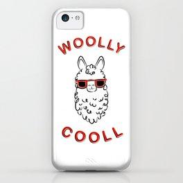 Woolly Cooll Cute Llama Pun iPhone Case