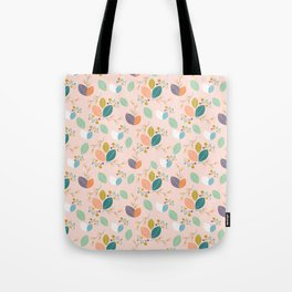 Colorful leaves, in a seamless pattern design Tote Bag