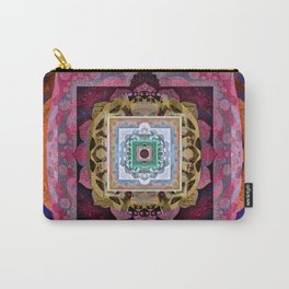 Rustic Antique Tones Sacred Geometry Boho Mandala Carry-All Pouch