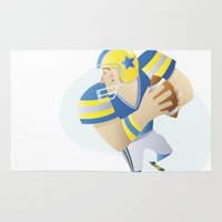 football Area & Throw Rugs featuring Football by Dues Creatius