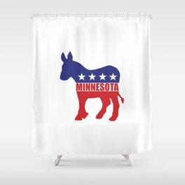 Minnesota Democrat Donkey Shower Curtain
