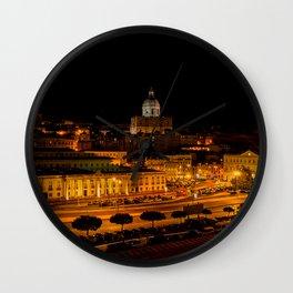 Lisbon by night Wall Clock