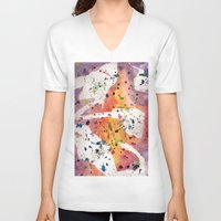 splatter V-neck T-shirts featuring splatter by Glossy Eyes