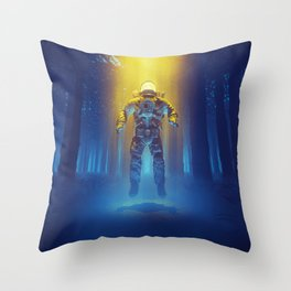 Forest Flux Throw Pillow