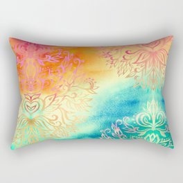 Watercolor Wonderland Rectangular Pillow
