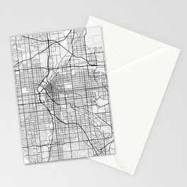 Denver City Map of the United States - Light Minimalist Stationery Cards