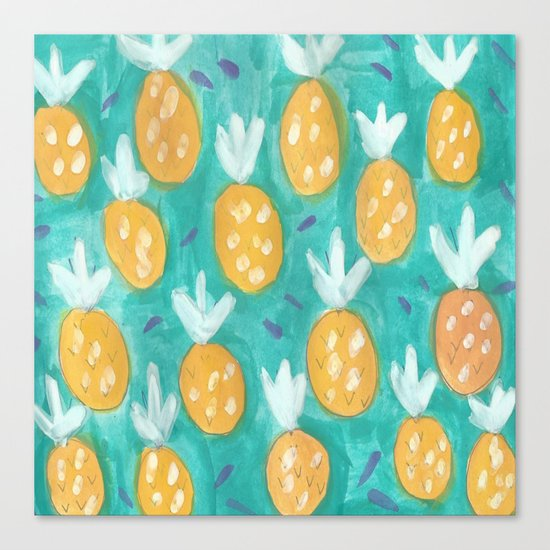 Fresh Pineapples Canvas Print