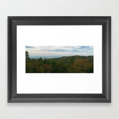 Rural layers Framed Art Print