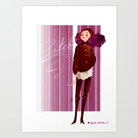 bitch Art Prints featuring Bitch by Aggie Cheung