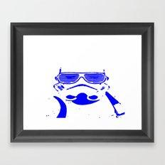 Blue Trooper Framed Art Print