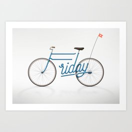 Lovely Friday Art Print