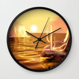 """Humans' Project"" Wall Clock"