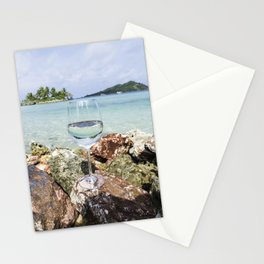 Wine View in Paradise Stationery Cards