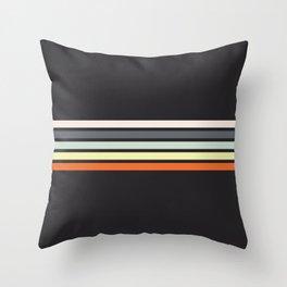 Colorful Stripes Black VIII Throw Pillow