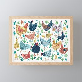 Hens and Chicks Framed Mini Art Print