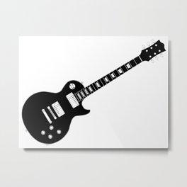 Black Guitar Metal Print