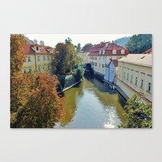 Watermill on Vltava River Canvas Print
