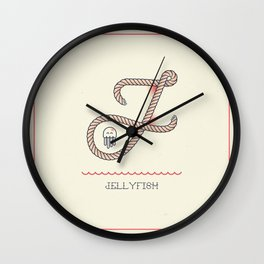 Ahoy! Letter J Wall Clock