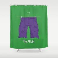 hulk Shower Curtains featuring Hulk by Jane Mathieu