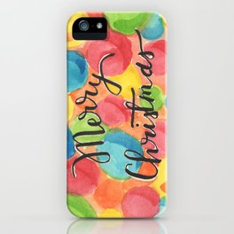A Cheery, Merry Christmas! iPhone Case