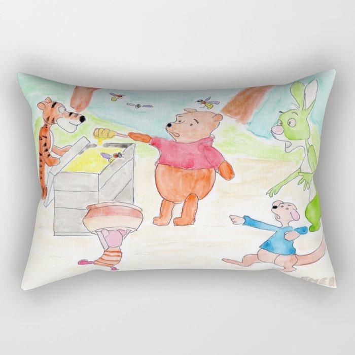 Poo Bear Robbing Honey Rectangular Pillow