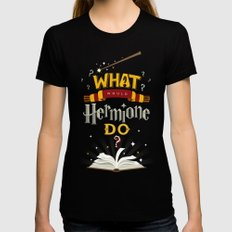 What Would Hermione Do? Black Womens Fitted Tee MEDIUM