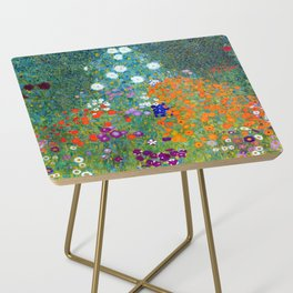 Gustav Klimt Flower Garden Side Table