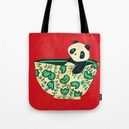 Dinnerware sets - panda in a bowl Tote Bag