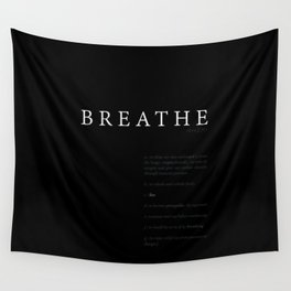 Breathe. A PSA for stressed creatives. Wall Tapestry