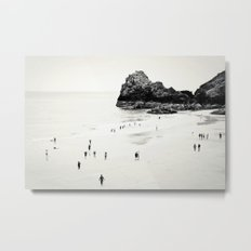 Cornwall beach life Metal Print