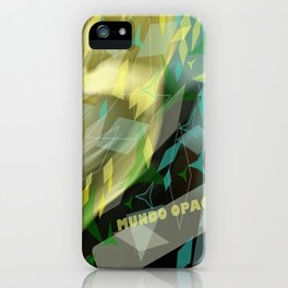 Opaque world: garment in the air. iPhone Case