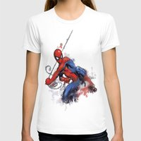spider man T-shirts featuring Spider-Man  by Isaak_Rodriguez