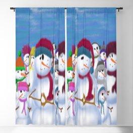 The Snowman & His Posse Blackout Curtain