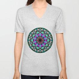 Meditation medallion. Unisex V-Neck