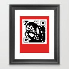 QR- Spiderman Framed Art Print