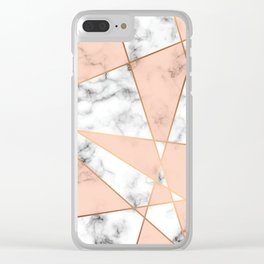 Marble Geometry 050 Clear iPhone Case