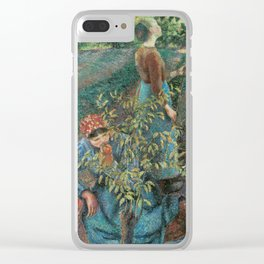 Camille Pissarro - Apple Picking Clear iPhone Case